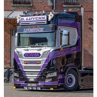 Fox Parts Zonneklep Scania NG Recht 34cm