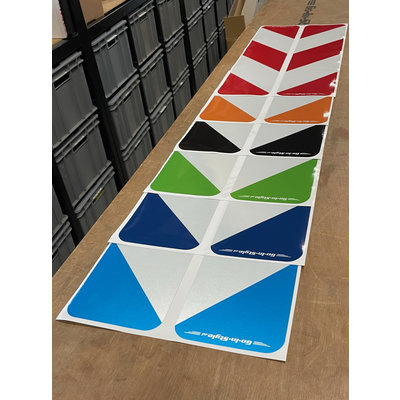GIS length sign sticker (set) in different colors