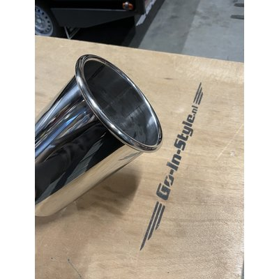 Stainless exhaust tip 129mm
