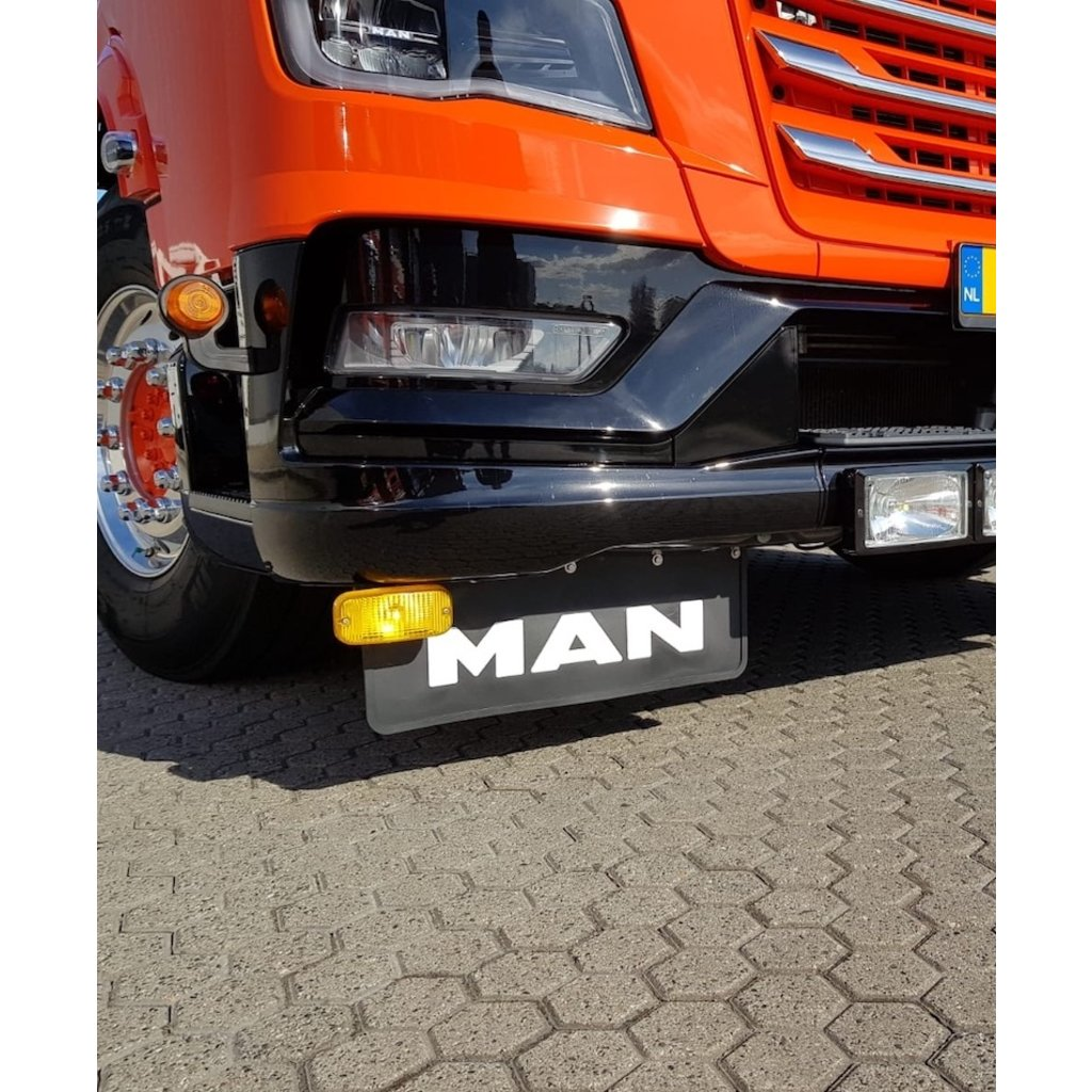 Nice Mudflap with thick MAN letters 60x30cm