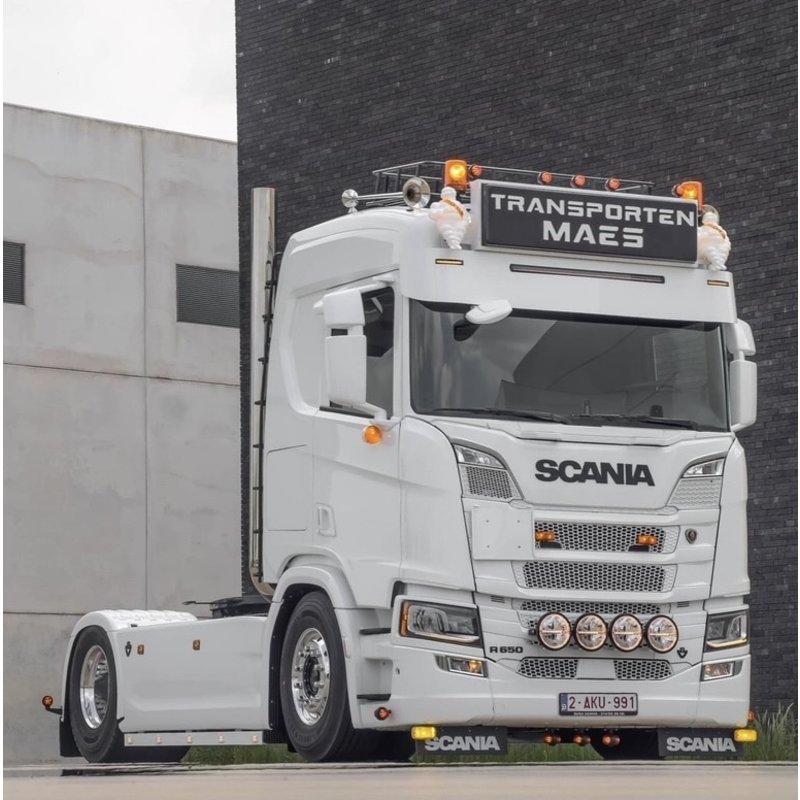 Fox Parts Zonneklep Scania NG Recht 34cm met Siberia Ledbar