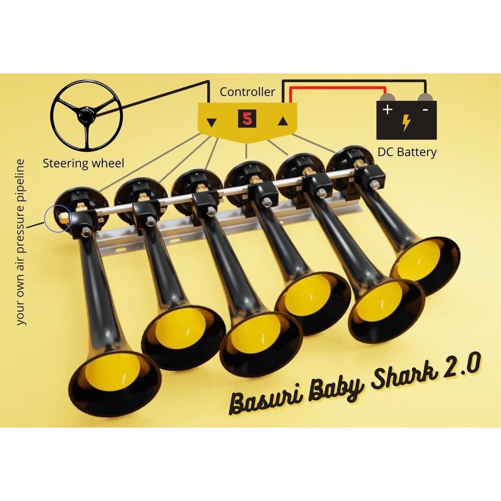 Basuri baby shark 2.0 airhorn - 19 melodies
