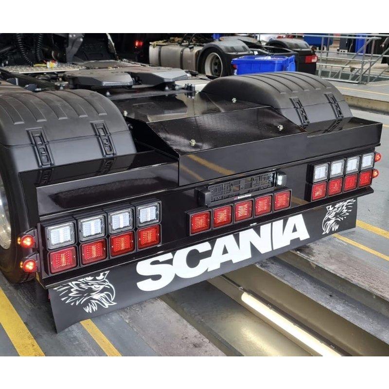 Rear bumper Steel for square lamps