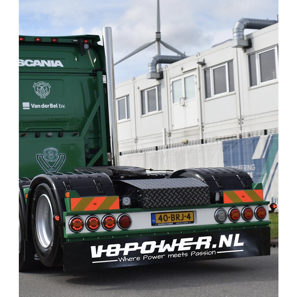 Mudflap V8power.nl 248x35cm