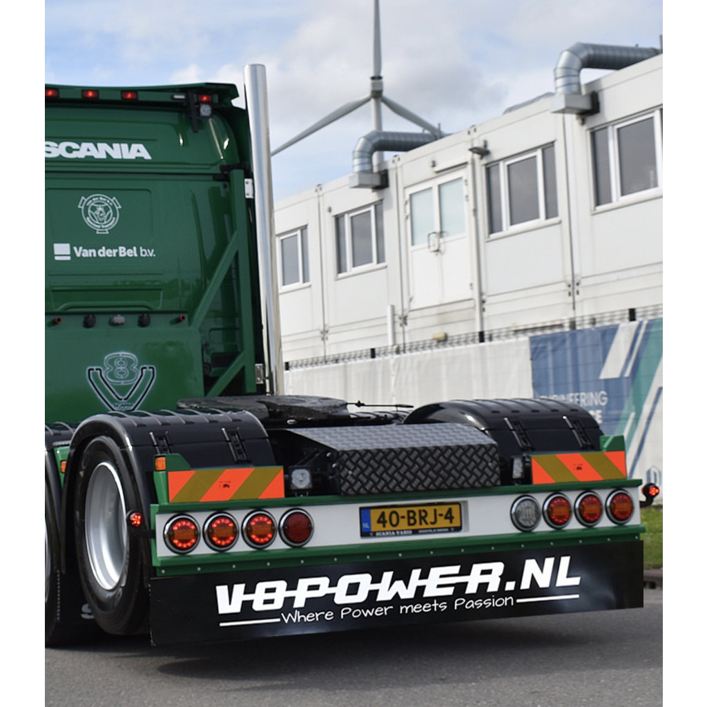 Spatlap V8power.nl 248x35cm