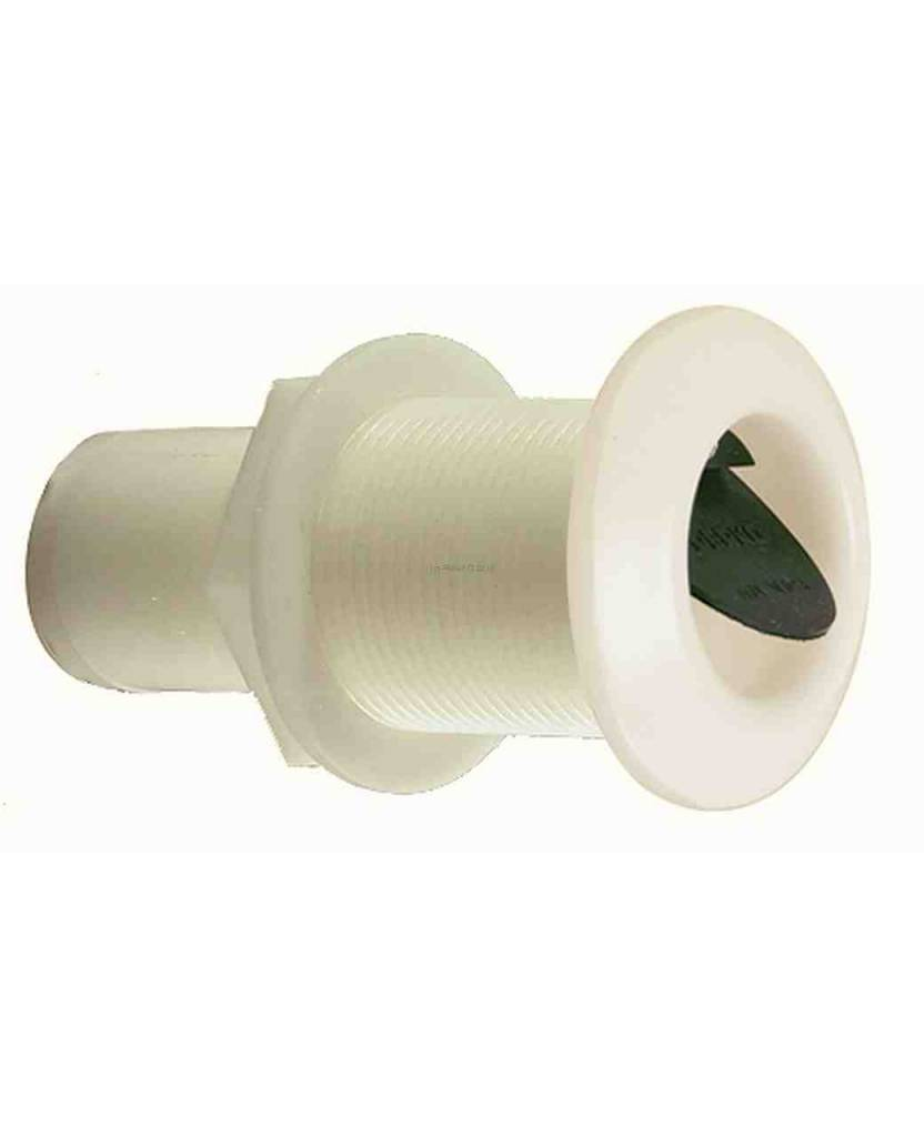 Perko Thru-Hull Scupper for Mounting through Transom (Recessed Soft Black Flapper)