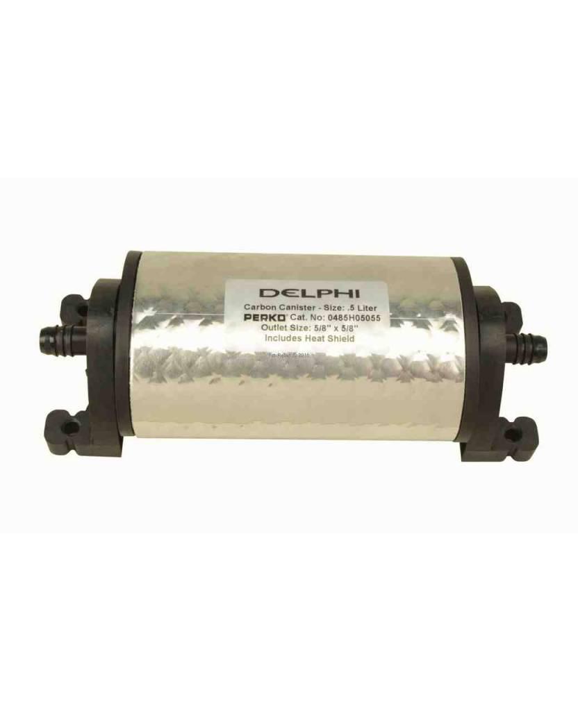 Perko Delphi Carbon Canister (Größe von 0,5 Liter bis 4 Liter, mit oder ohne Hitzeschild)