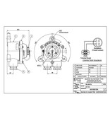 Sanshin Opbouw verbinding vergaarbak voor ALDIS lamp (waterdicht, IP65)
