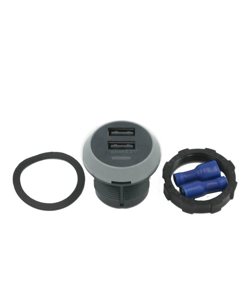 Alfatronix 12/24 VDC USB oplader voor smartphones aan boord van een jacht