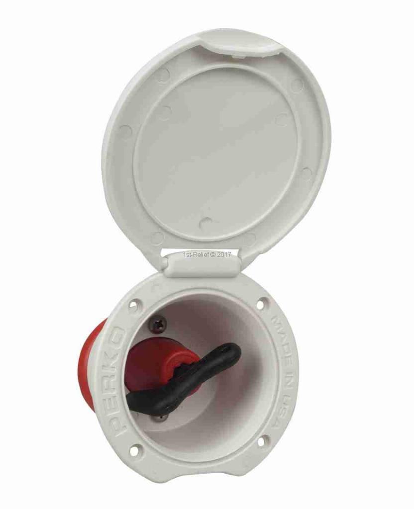 Perko Single Battery Disconnect Switch - Cup Mount, maakt het mogelijk de batterij uit het elektrische systeem uit te schakelen