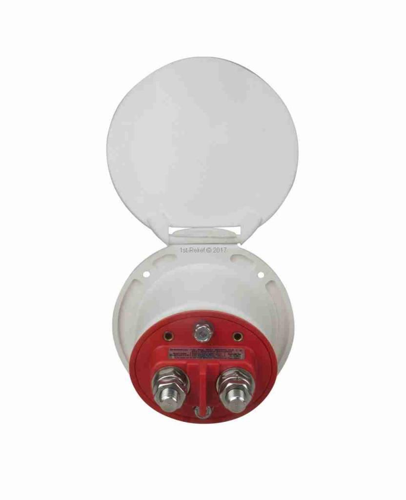 Perko Interruptor de desconexión de una sola batería - Montaje en taza, permite que la batería se desconecte del sistema eléctrico