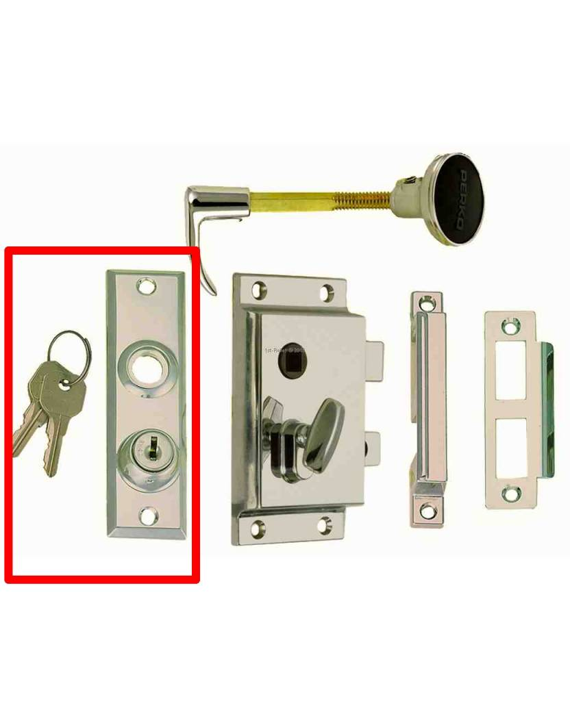 Perko Cabindoor - Spare Escutcheon Plate with Keys