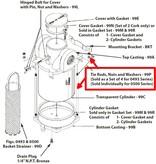Perko Großer Einlasswasserfilter - Ersatz-Stehbolzen, Mutter und Unterlegscheibe (1 Stück)