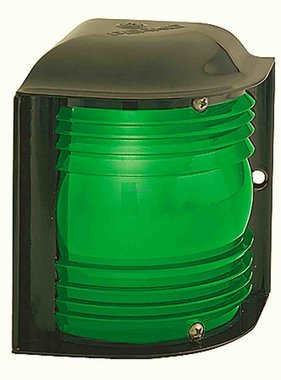 Perko 12 - 24 VDC Green Side Light - horizontal mounting