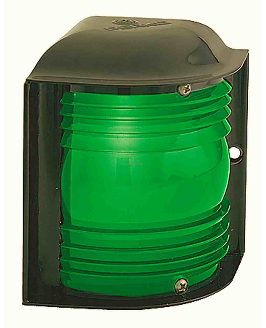 Perko 12 - 24 VDC Luz lateral verde - montaje horizontal (bombilla no incluida)