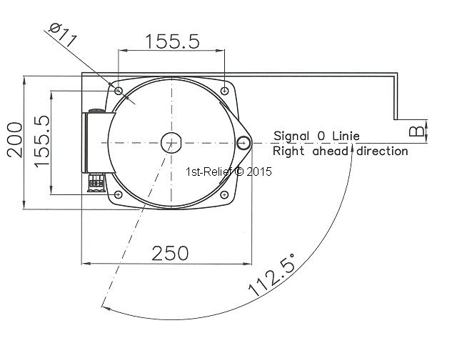Peters&Bey LED Allround Navigatieverlichting / Lantern 780 - Signal yellow