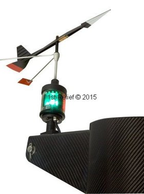 Peters&Bey LED Navigationlight / Lantaarn 580 - met licht voor Wind Direction Indicator