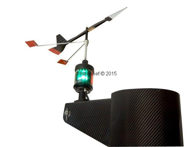 Peters&Bey LED Navigationlight / Lantaarn 580 - met licht voor windrichting Indicator (Windex-Light)