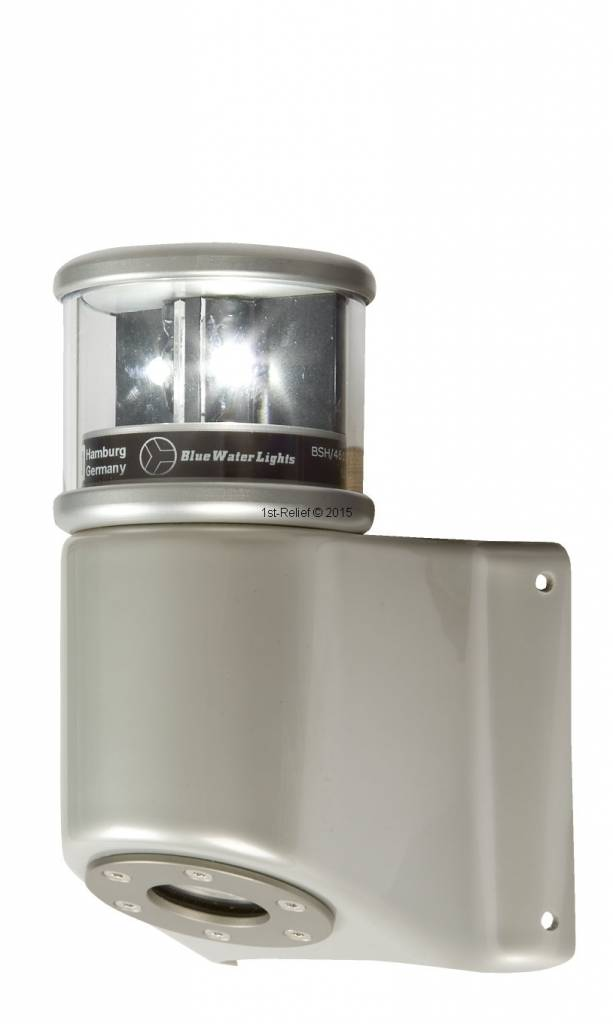 Peters&Bey LED Navigatieverlichting / Lantern 580 - Masthead light white incl. Mastbracket (black or silver)