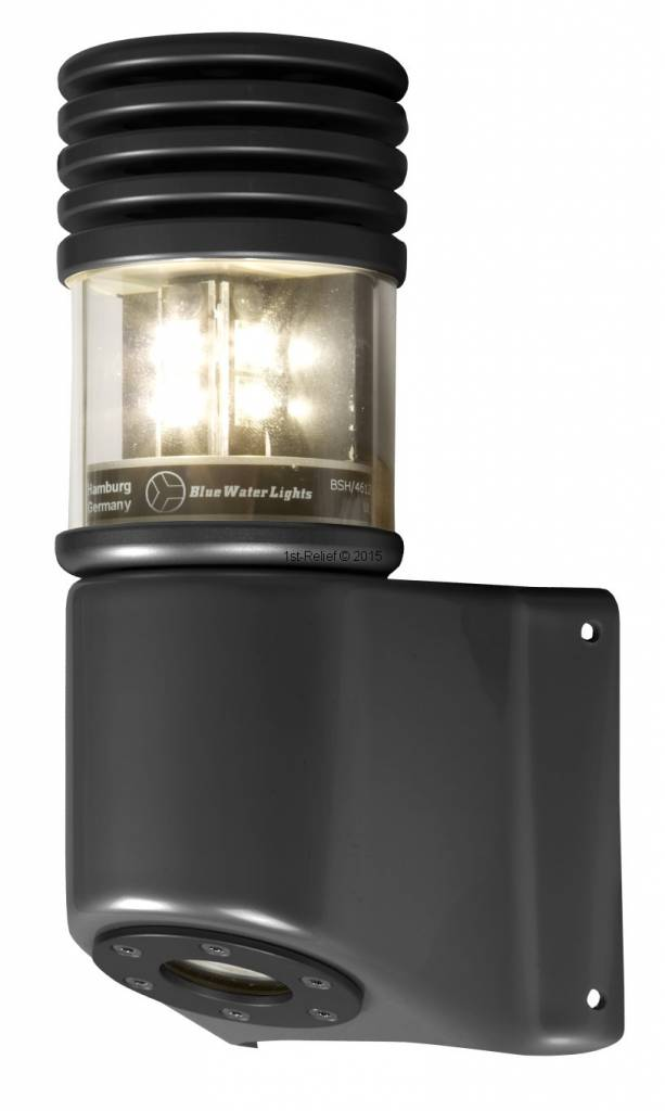Peters&Bey LED Navigatieverlichting / Lantern 580 - Masthead light white 5 NM incl. Mastbracket (black or silver)