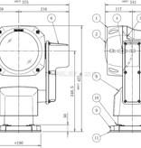 Sanshin 7-дюймовый ксеноновый роботизированный прожектор (24 В постоянного тока / 150 Вт) с лампой, панелью управления CPF196 и кабелем длиной 2 м