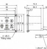 Sanshin Unterputz-Bedienfeld (zweiter Controller) für 1st12HR-55 (ohne Kabel)