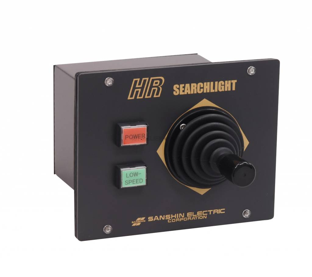 """Sanshin 10x4"""" HID Cabin Scheinwerfer (24 VDC / 2x35 W) with lamp, control panel CPF185 and 5 m cable"""