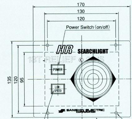 Sanshin Unterputz-Bedienfeld (2. Controller) für 1st12HR-1170