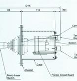Sanshin Inbouw bedieningspaneel (2e controller) voor 1st12HR-1170