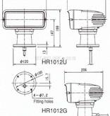 """Sanshin 7x3 """"Halo Cabin Zoeklicht (24 VDC / 110 W) met lamp, bedieningspaneel CPF53 en 5 m kabel"""