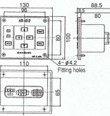 Sanshin Sub-bedieningspaneel (2e controller) voor 1st12HR-1012-12 of 1st12HR-1012-24 (zonder kabel)