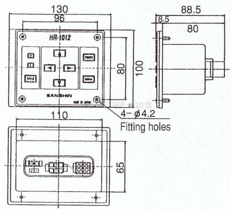 Sanshin Sub-Control-Panel (2. Controller) für 1st12HR-1012-12 oder 1st12HR-1012-24 (ohne Kabel)