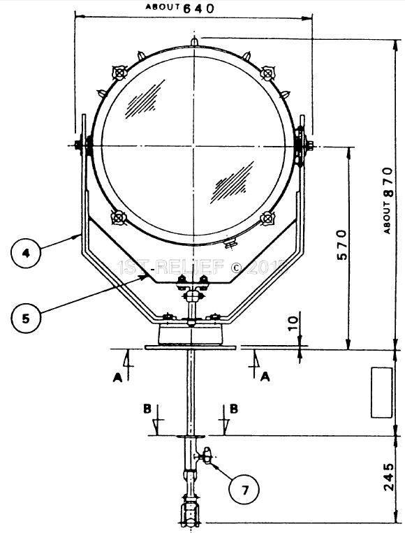 """Sanshin 19"""" Cabin Halo-Zoeklicht (230 VAC / 2000 W)"""