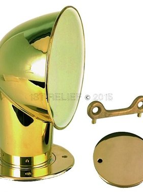 "Perko Polished Brass 4"" Cowl Ventilator"