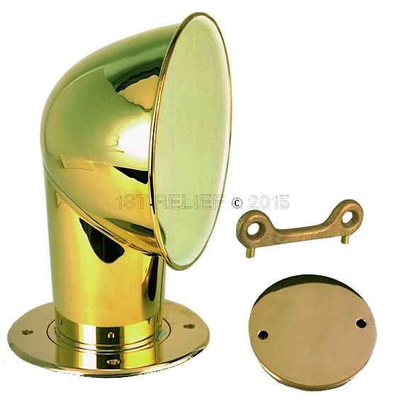 """Perko Chrome Plated Brass 4"""" Cowl Ventilator with Chrome Plated Deck Plate"""