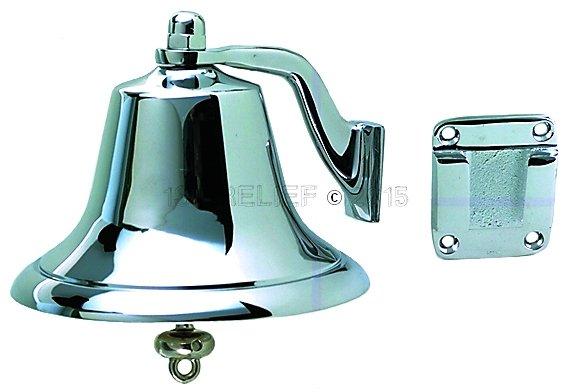 """Perko 6"""" Fog Bell - Chrome Plated Bronze"""