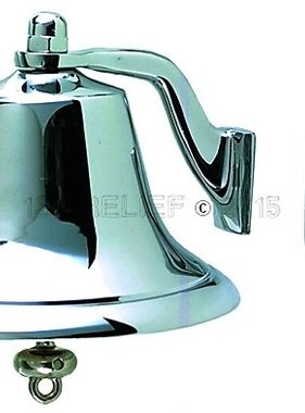 "Perko 8"" Fog Bell - Chrome Plated Bronze"