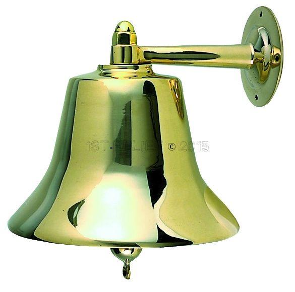 """Perko 14"""" Fog Bell - Plain Bronze"""