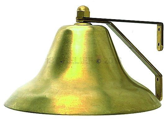 """Perko 12"""" Fog Bell - Plain Brass"""