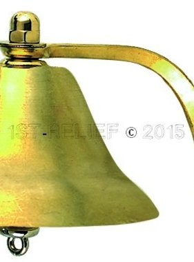 """Perko 6"""" Fog Bell - Plain Brass"""