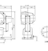 """Sanshin 7 """"LED Robo Zoeklicht (24 VDC / 40 W) met lamp, bedieningspaneel CPF195 en 2 m kabel"""