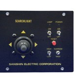 """Sanshin 6"""" Xenon Cabin Scheinwerfer (24 VDC / 300 W) with lamp, control panel and 2 m cable"""