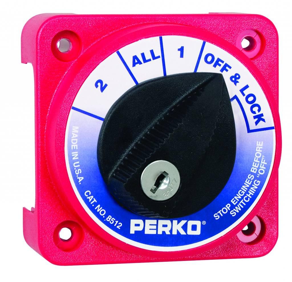 Perko Compacto interruptor selector de la batería (opcional con cerradura de llave)