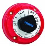 Perko Medium Batterij keuzeschakelaar (optional met sleutel slot met Dynamo-Scheider AFD)