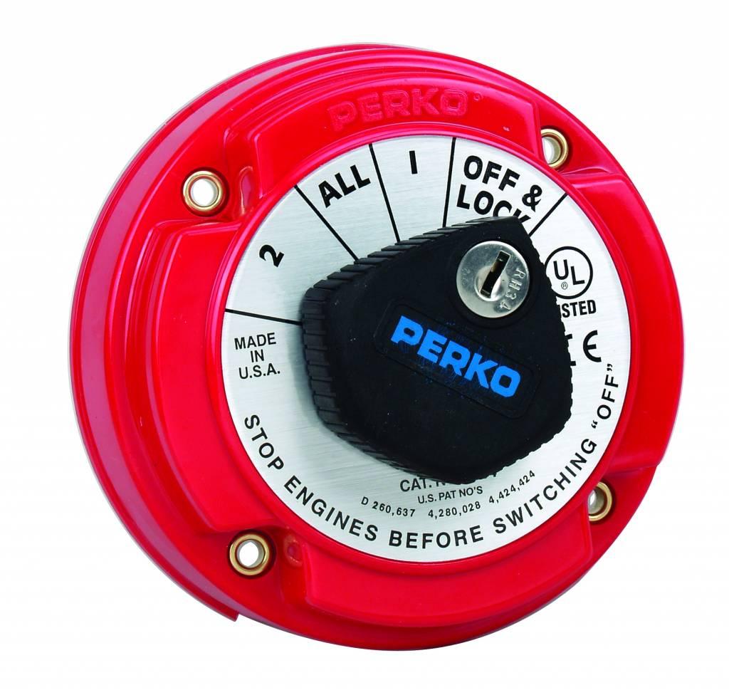 Perko Interruptor selector de Medio batería (opcional con alternador Campo Disconnect (AFD) y el bloqueo de teclas)
