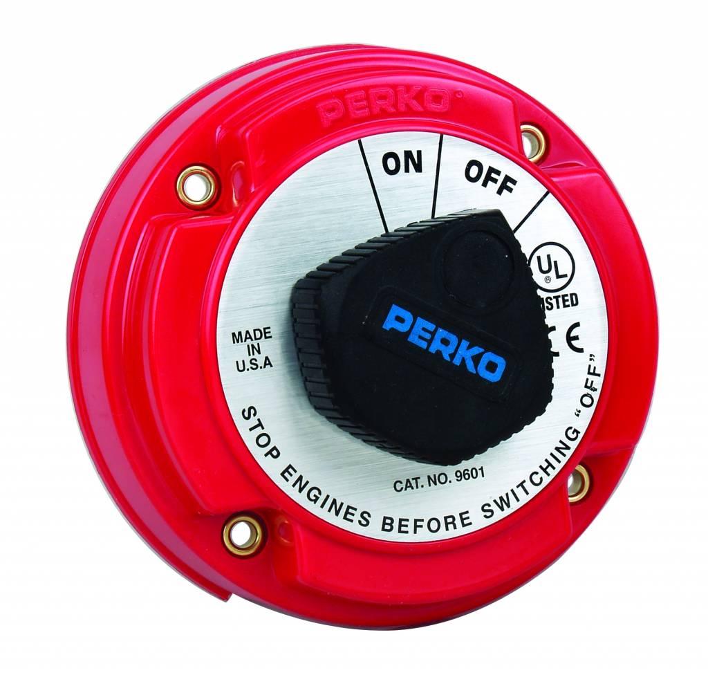 Perko Medium Main Battery Disconnect Switch (optional met sleutel slot met Dynamo-Scheider AFD)