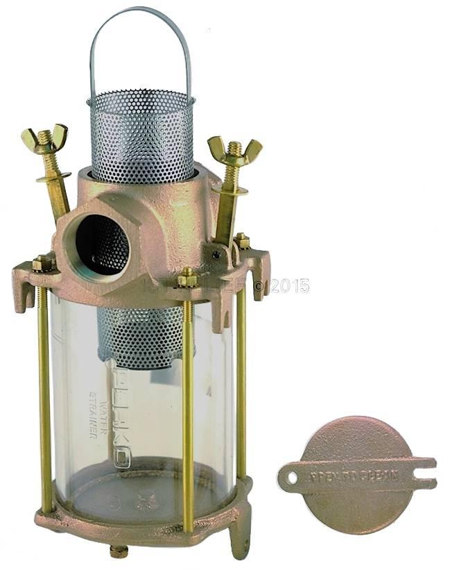 Perko Einlasswasserfilter mit Cast Bronze und Edelstahl-Korb
