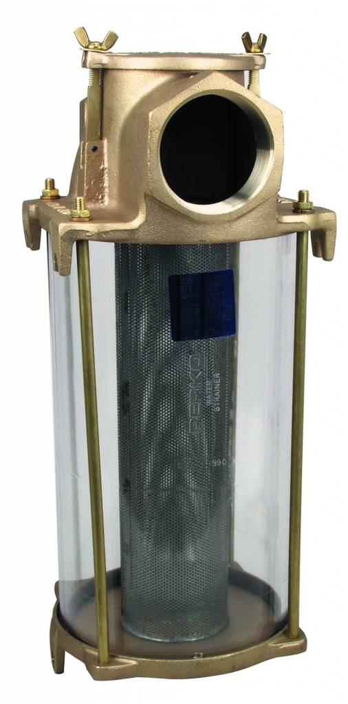 Perko Grote Intake Water Filter met gegoten brons en roestvrij stalen korf
