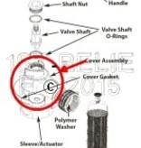 Perko Einlasswasserfilter mit Spülanschluss - Gehäusebaugruppe