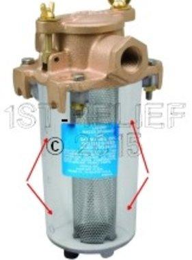 Perko Leightweight aspirazione Filtro Acqua - Ricambio Corpo cilindro trasparente